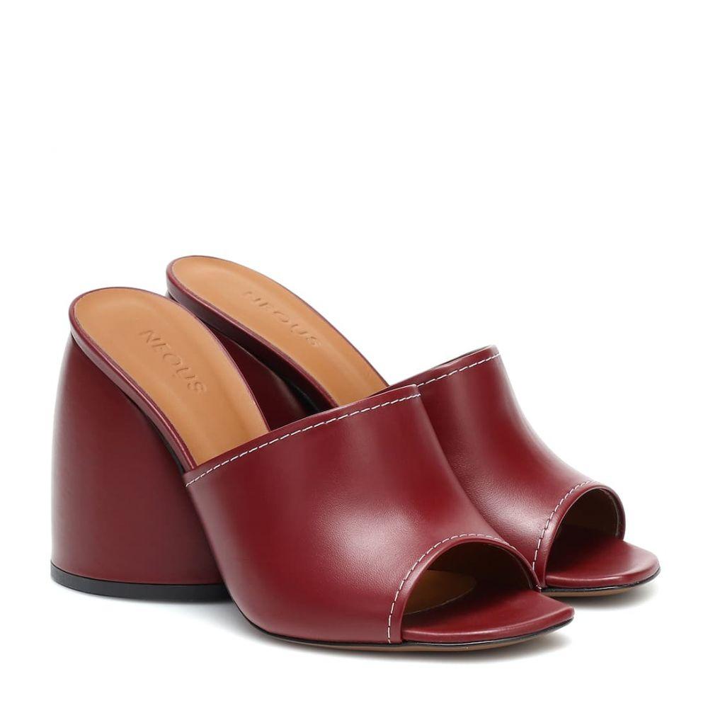 ネオアス Neous レディース サンダル・ミュール シューズ・靴【Epige leather sandals】Burgundy