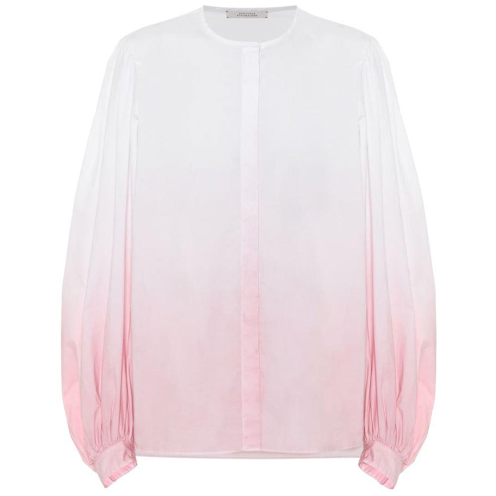 ドロシー シューマッハ Dorothee Schumacher レディース ブラウス・シャツ トップス【Stretch-cotton poplin blouse】Rising Rose