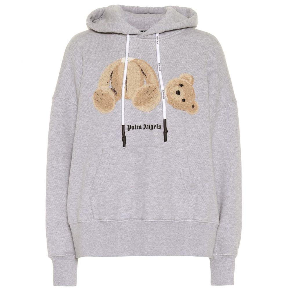 パーム エンジェルス Palm Angels レディース パーカー トップス【Logo cotton-jersey hoodie】Medium Grey
