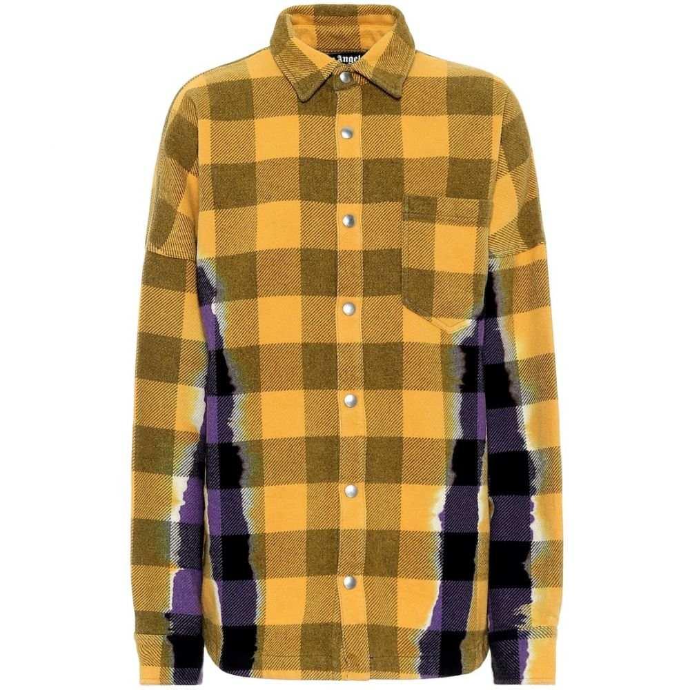 パーム エンジェルス Palm Angels レディース ブラウス・シャツ トップス【Checked cotton-blend shirt】Purple Orange