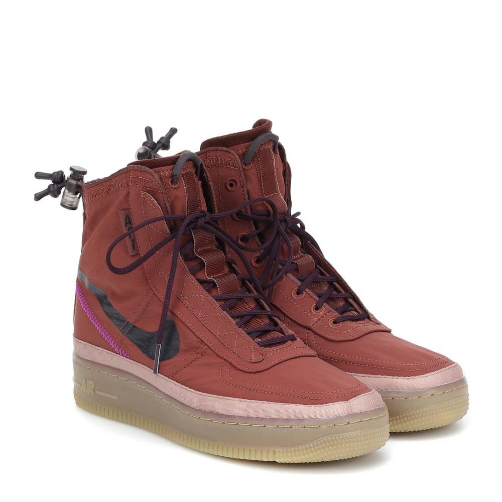 ナイキ Nike レディース スニーカー エアフォースワン シューズ・靴【Air Force 1 Shell high-top sneakers】Dkpony/Bgyash