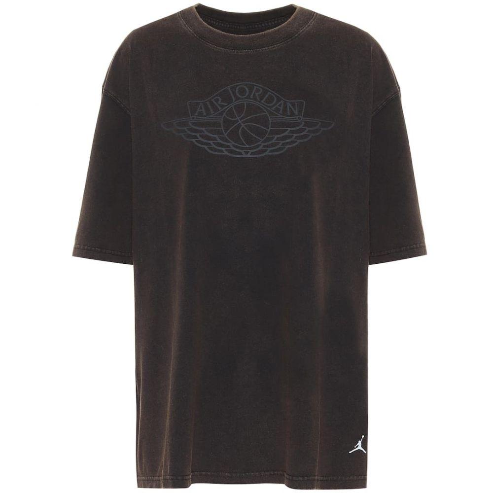 ナイキ Nike レディース Tシャツ トップス【Jordan printed cotton T-shirt】Black