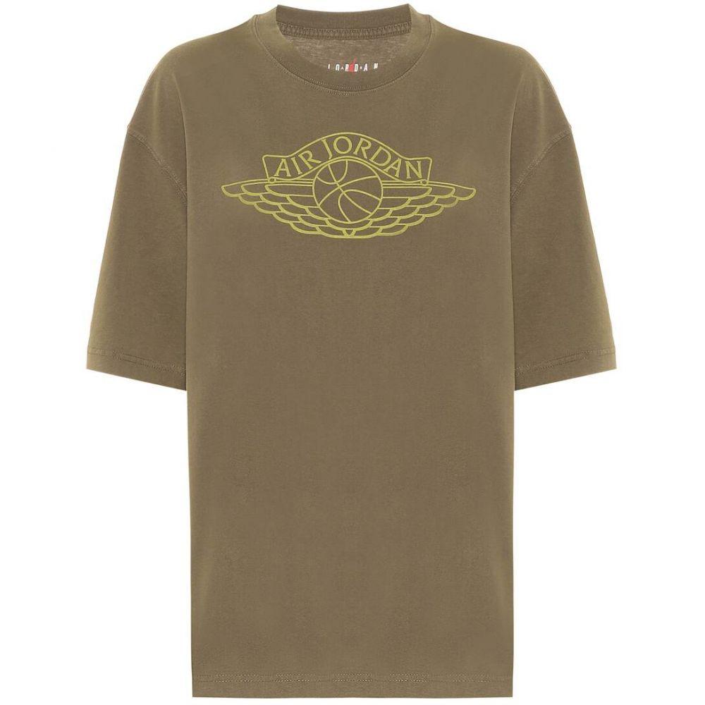 ナイキ Nike レディース Tシャツ トップス【Jordan printed cotton T-shirt】Khaki
