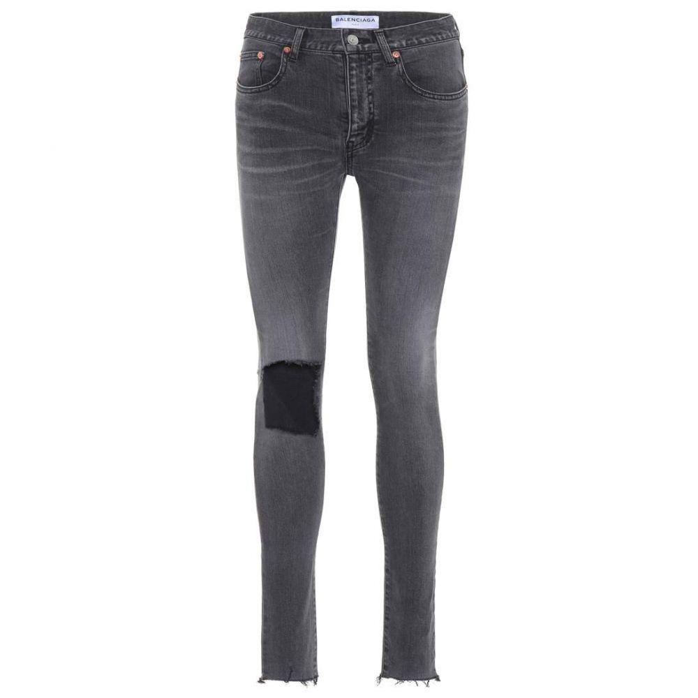 バレンシアガ Balenciaga レディース ジーンズ・デニム リップドジーンズ ボトムス・パンツ【Ripped skinny jeans】Vintage Grey