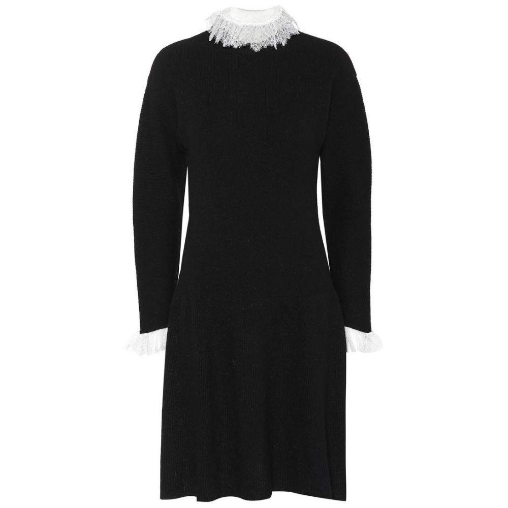 フィロソフィ ディ ロレンツォ セラフィニ Philosophy Di Lorenzo Serafini レディース ワンピース ワンピース・ドレス【Lace-trimmed wool-blend dress】Black