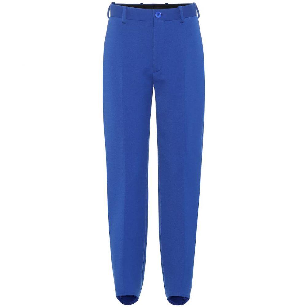 バレンシアガ Balenciaga レディース ボトムス・パンツ 【High-rise straight-leg pants】royal blue