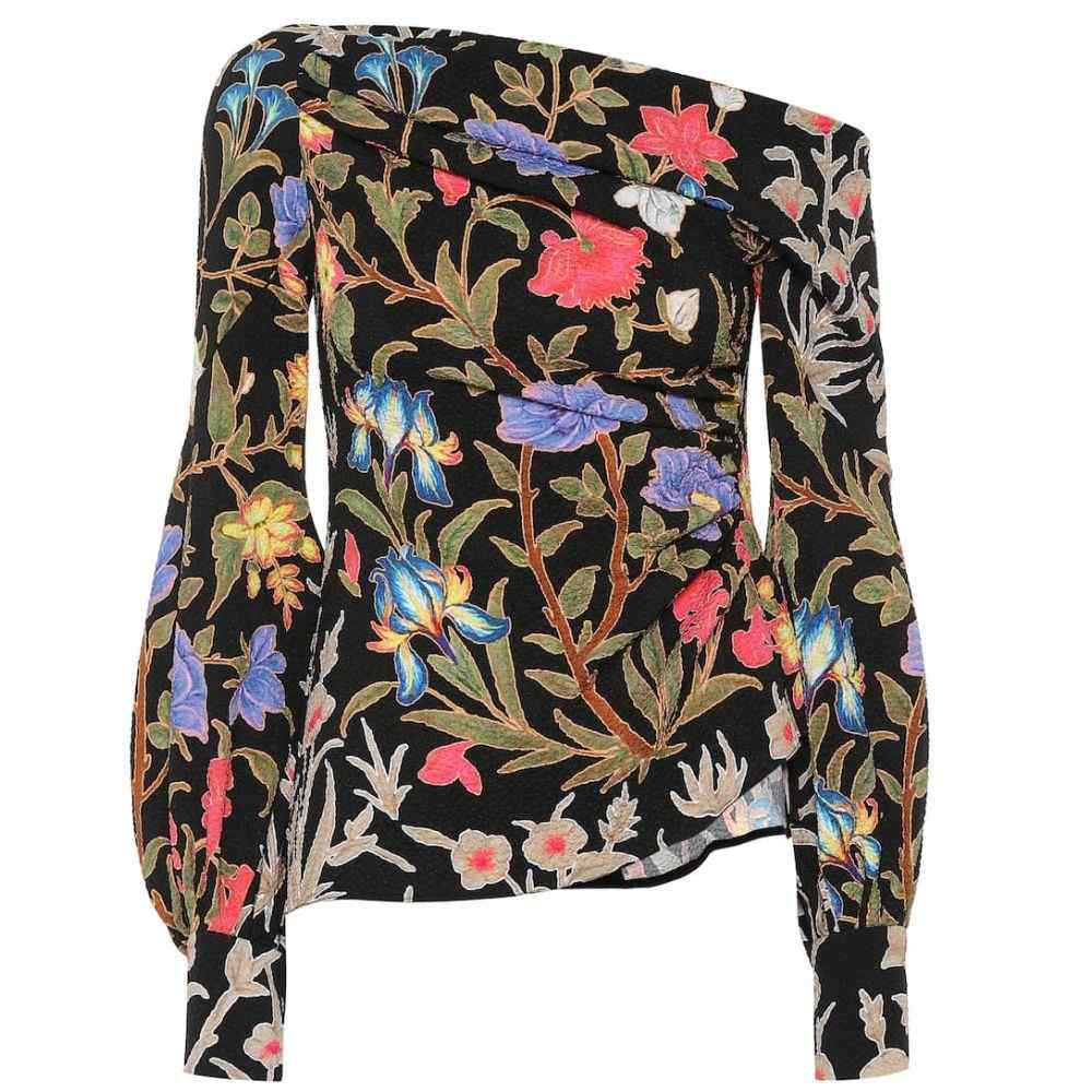 ピーター ピロット Peter Pilotto レディース トップス 【Asymmetric crepe top】Botanical Black