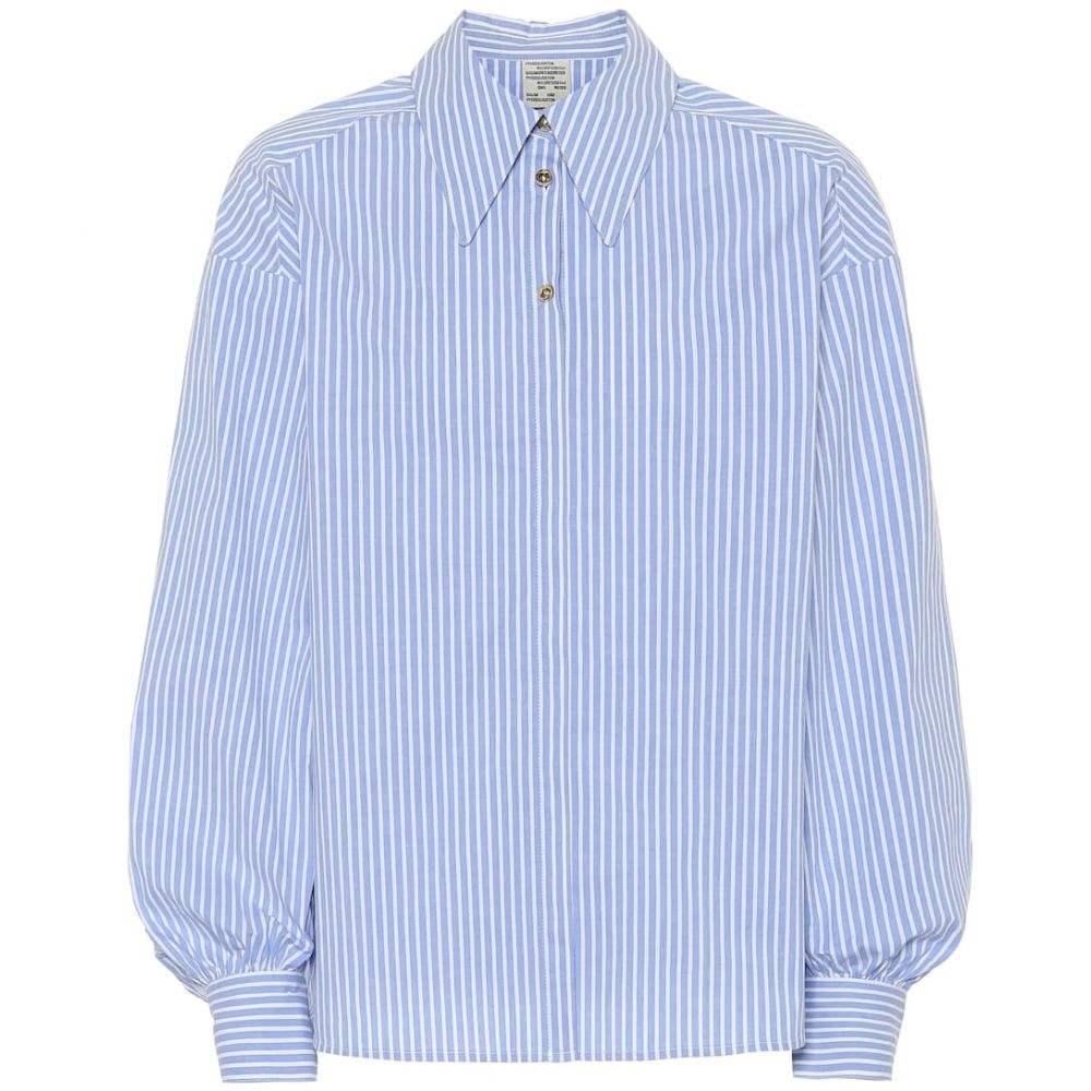 バウム ウンド ヘルガーデン Baum und Pferdgarten レディース ブラウス・シャツ トップス【Micky striped stretch-cotton shirt】Blue-white poplin