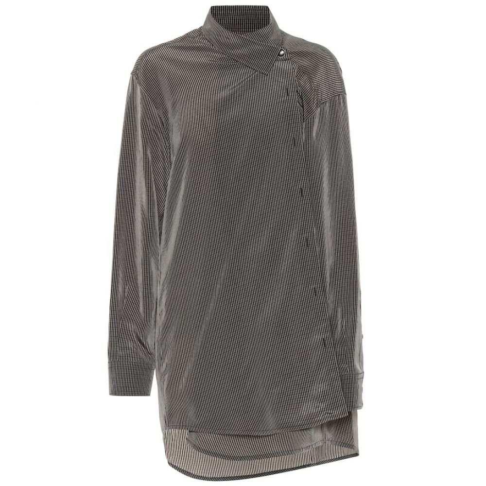 バレンシアガ Balenciaga レディース ブラウス・シャツ トップス【Oversized checked shirt】Beige/Brown