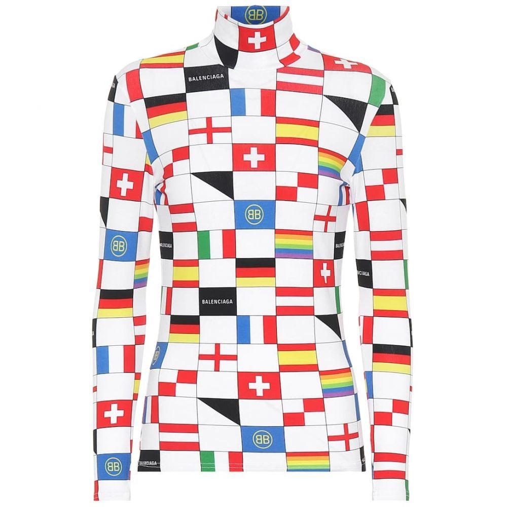 バレンシアガ Balenciaga レディース トップス 【Flag-printed mockneck top】Multico