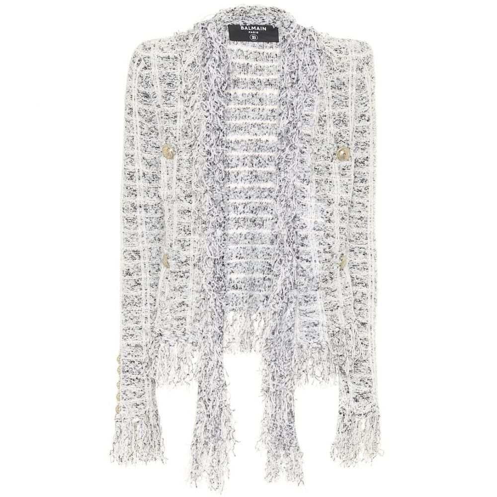 バルマン Balmain レディース ジャケット アウター【Tweed jacket】Noir/Blanc