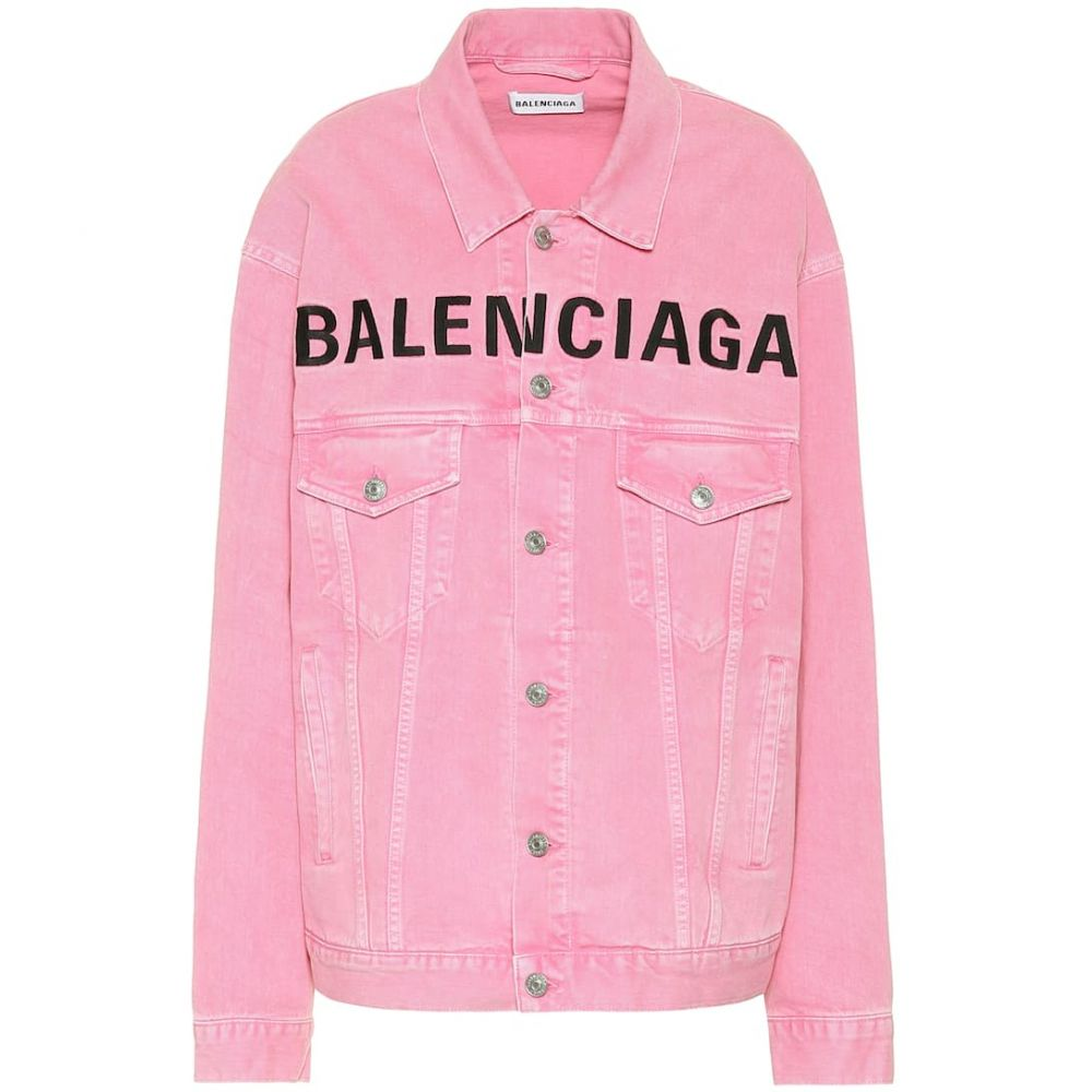 バレンシアガ Balenciaga レディース ジャケット Gジャン アウター【Logo denim jacket】Vintage Pink
