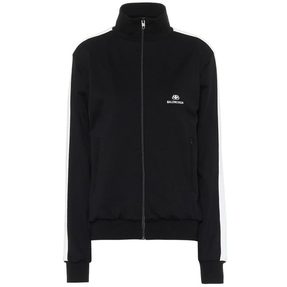バレンシアガ Balenciaga レディース ジャージ アウター【Technical-jersey track jacket】Black/White