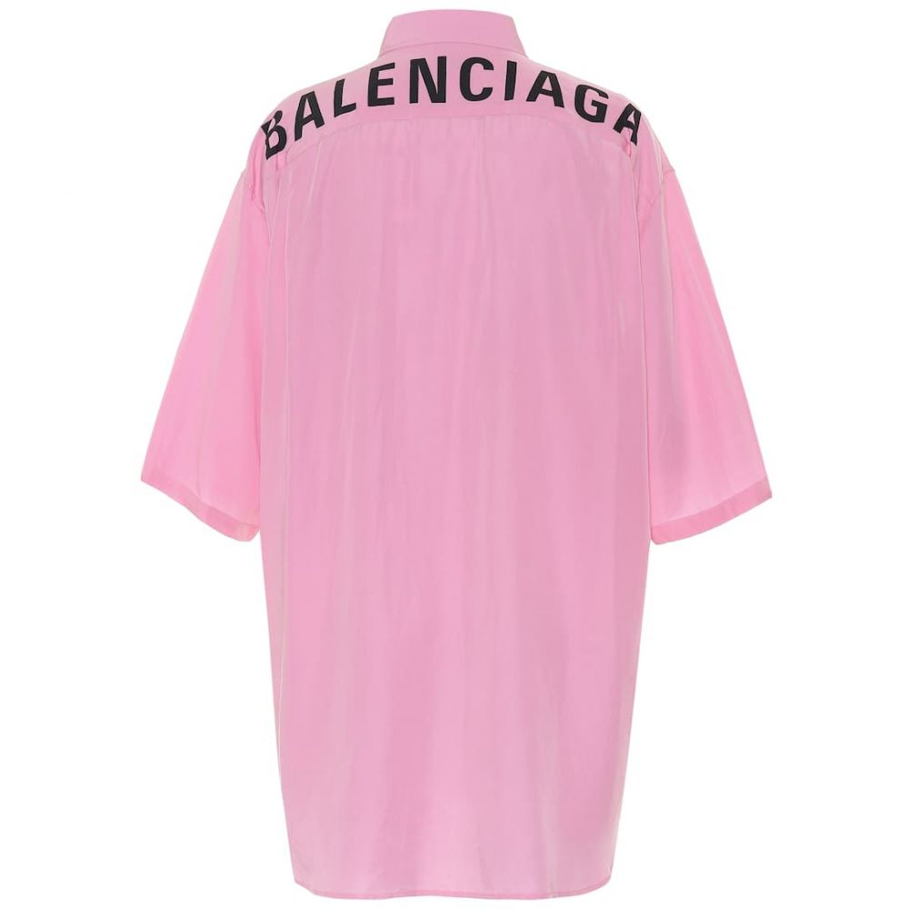 バレンシアガ Balenciaga レディース ブラウス・シャツ トップス【Logo shirt】Pink