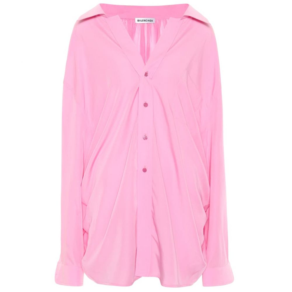 バレンシアガ Balenciaga レディース ブラウス・シャツ トップス【Oversized shirt】Pink