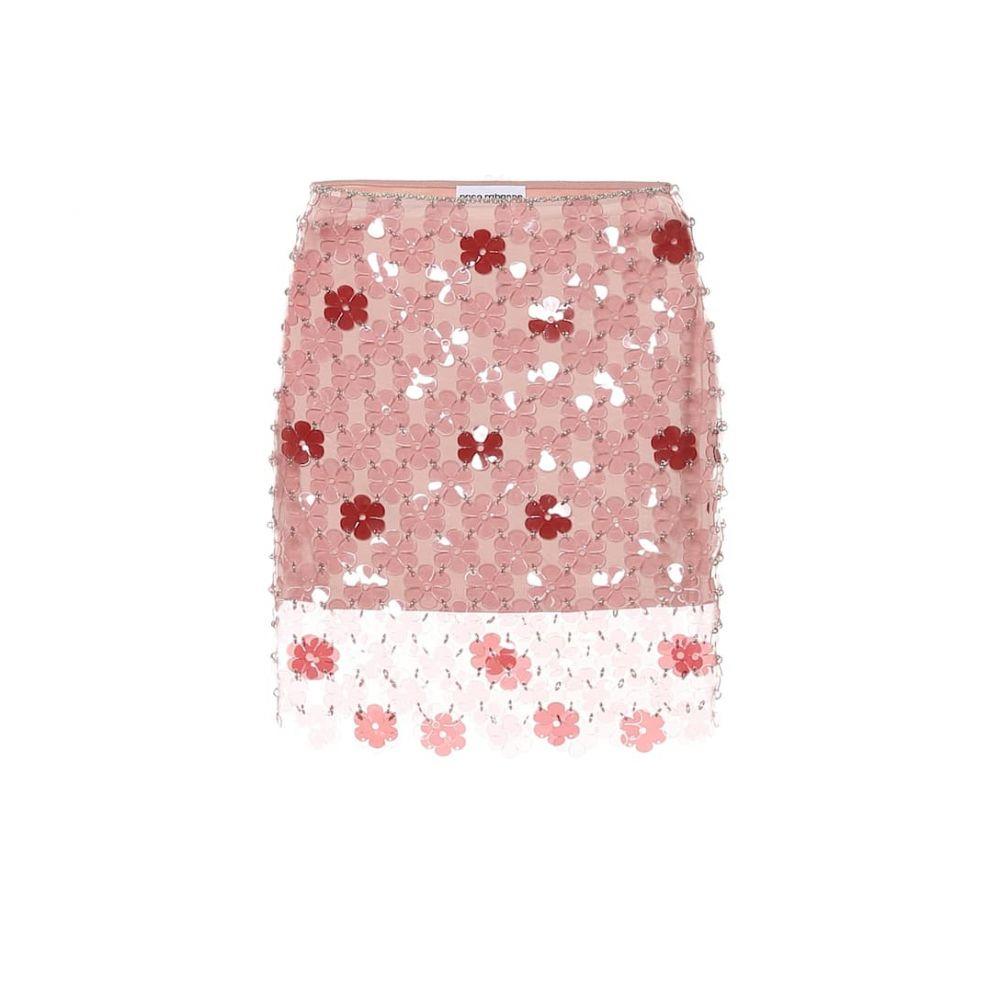 パコラバンヌ Paco Rabanne レディース ミニスカート スカート【Floral paillette miniskirt】A Definir