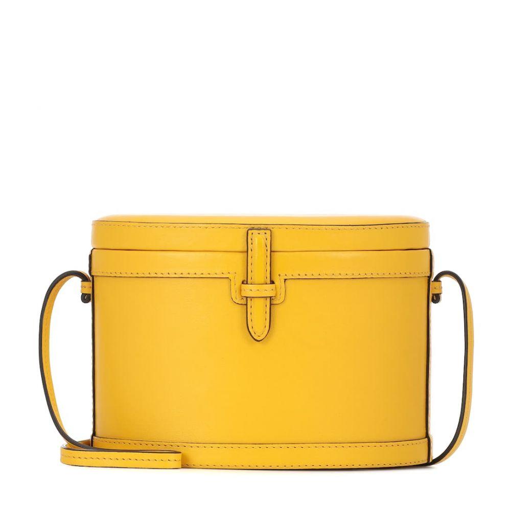ハンティング シーズン Hunting Season レディース ショルダーバッグ バッグ【The Round Trunk leather shoulder bag】Yellow