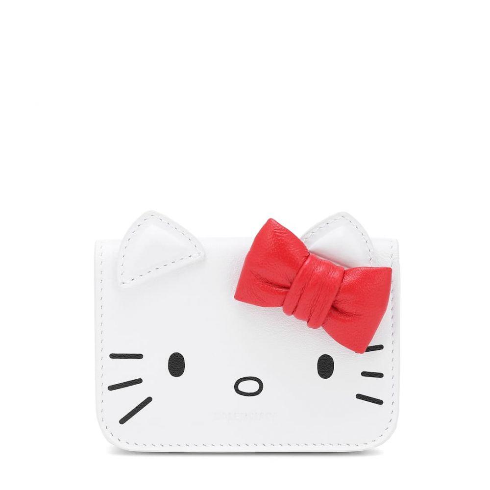 バレンシアガ Balenciaga レディース 財布 【x Hello Kitty Mini leather wallet】Optic White