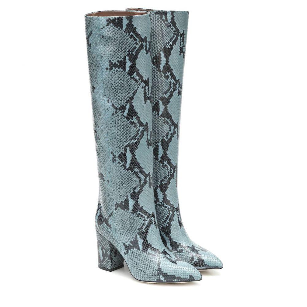 パリ テキサス Paris Texas レディース ブーツ シューズ・靴【Snake-effect leather boots】Jeans