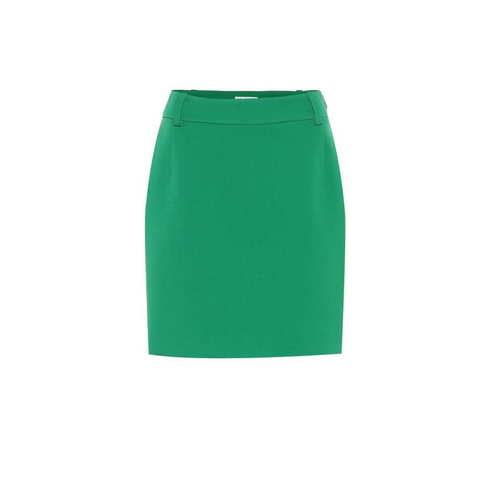 バレンシアガ Balenciaga レディース ひざ丈スカート ペンシルスカート スカート【Stretch-wool pencil skirt】Emerald Green
