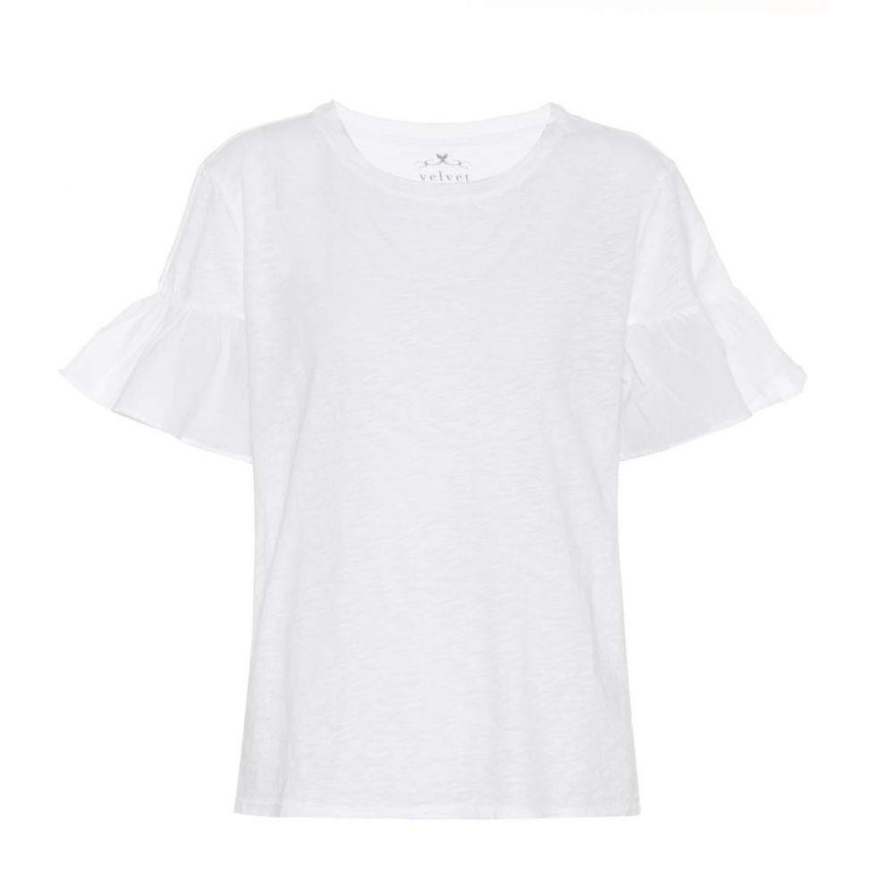 ベルベット グラハム&スペンサー Velvet レディース Tシャツ トップス【Maureen cotton T-shirt】White