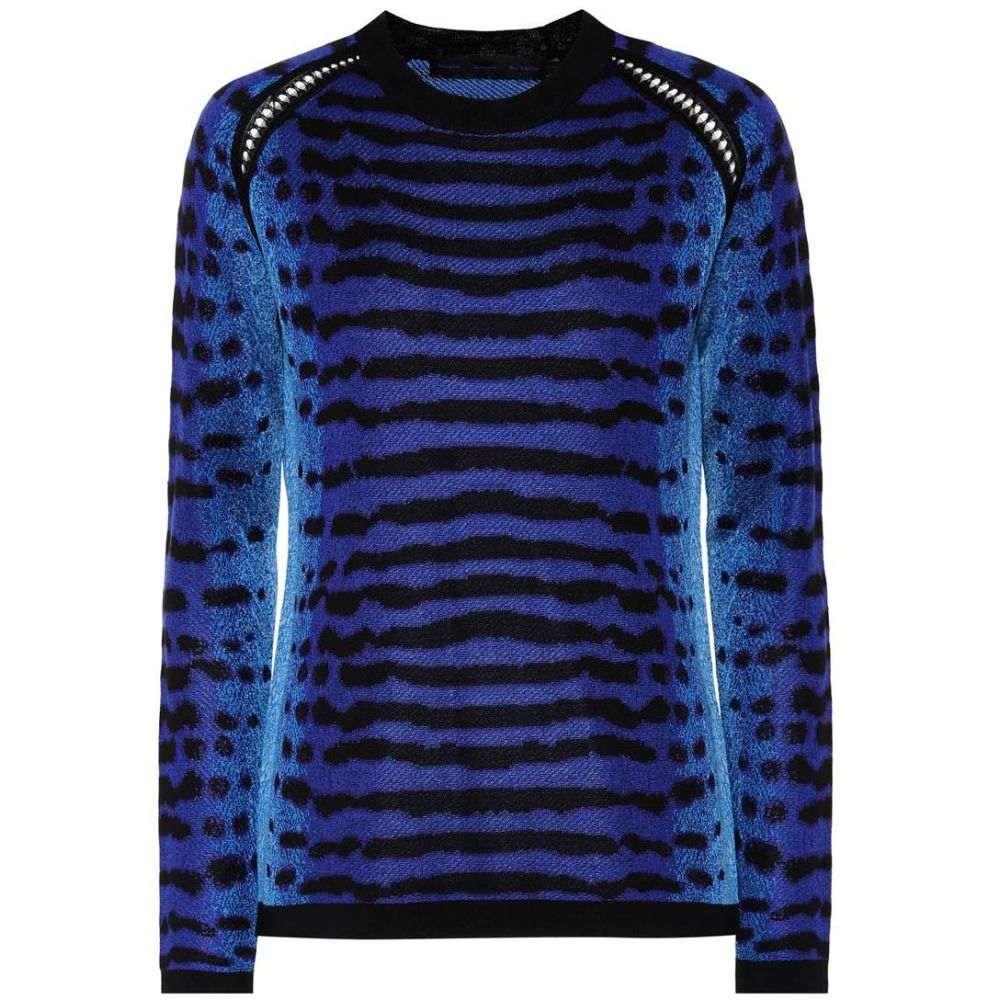 プロエンザ スクーラー Proenza Schouler レディース ニット・セーター トップス【Jacquard silk sweater】Electric Blue/Black