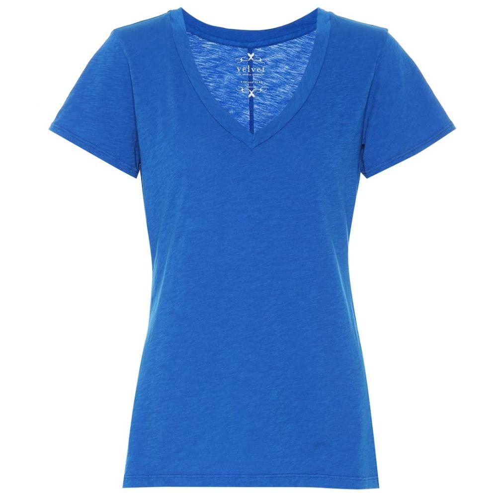 ベルベット グラハム&スペンサー Velvet レディース Tシャツ トップス【Cotton T-shirt】pacific