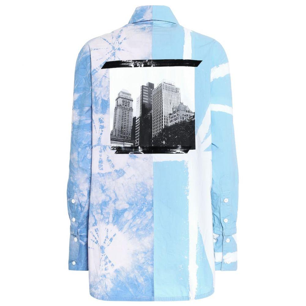 プロエンザ スクーラー Proenza Schouler レディース ブラウス・シャツ トップス【Tie-dye cotton shirt】Baby Blue/Lilac
