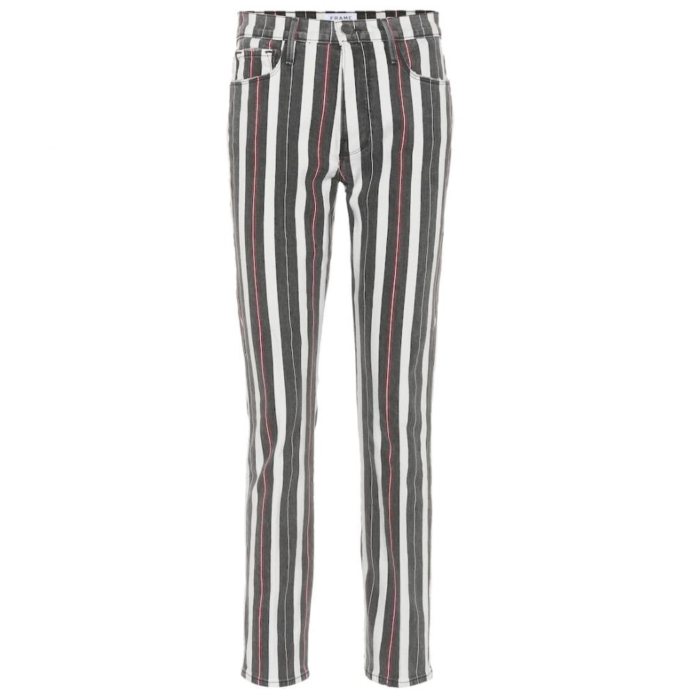 フレーム Frame レディース ジーンズ・デニム ボトムス・パンツ【Le Sylvie Slender high-rise jeans】Band Stripe