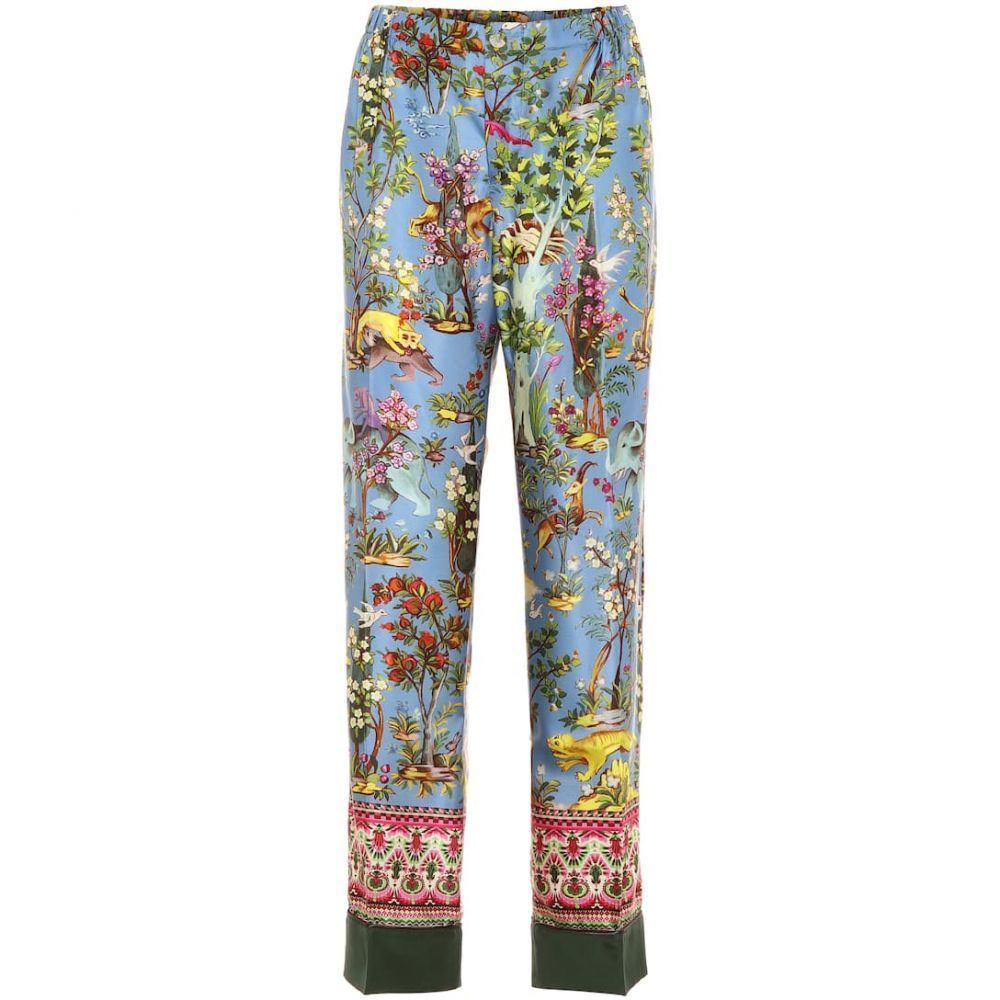 フォーレストレススリーパーズ F.R.S For Restless Sleepers レディース ボトムス・パンツ 【Anaideia printed silk pants】F.Do Azzurro