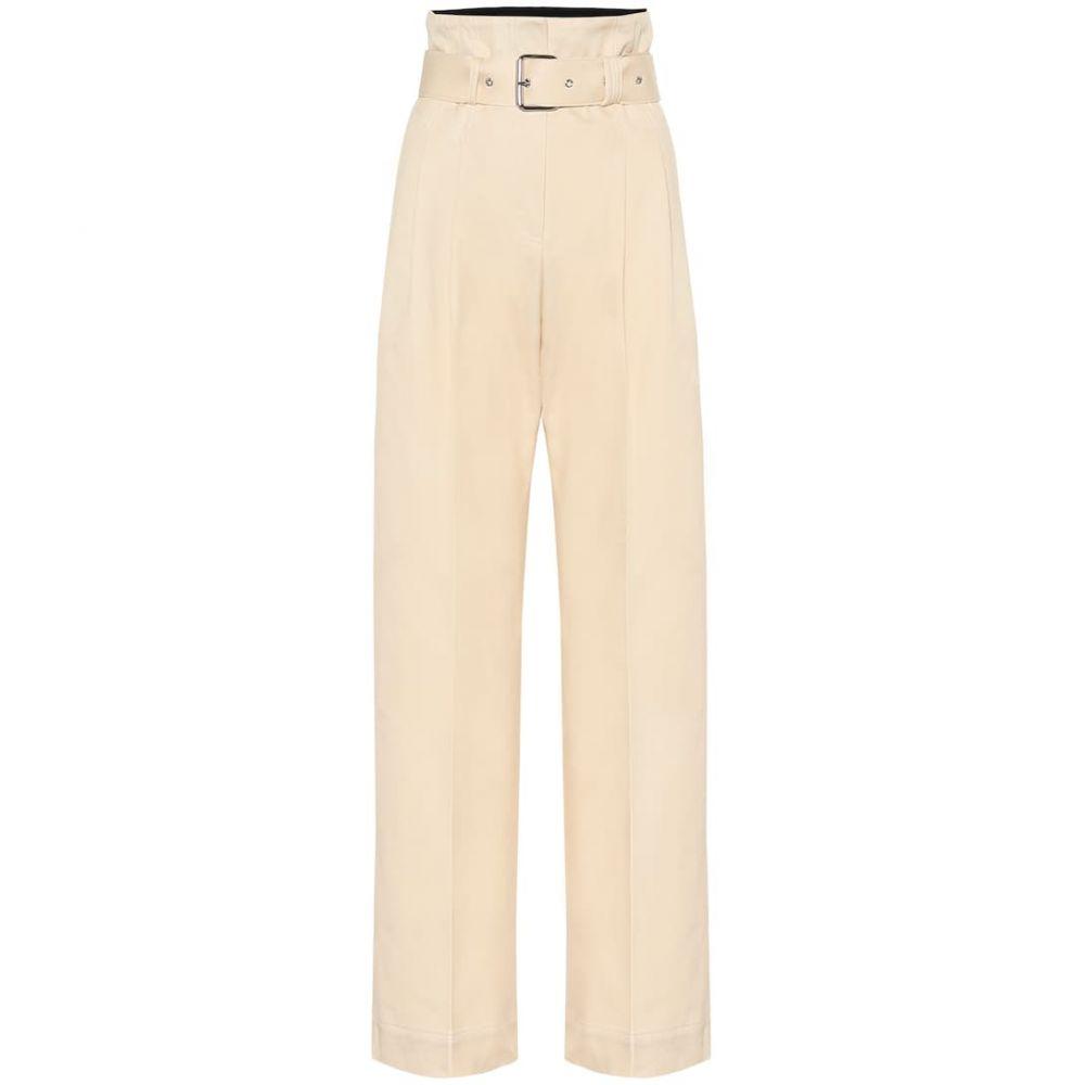 プラン C Plan C レディース ボトムス・パンツ 【Cotton high-rise wide-leg pants】White Zinc