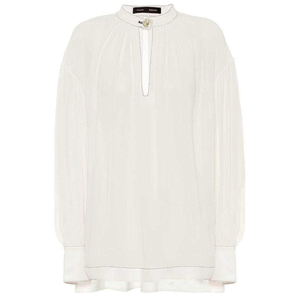 プロエンザ スクーラー Proenza Schouler レディース ブラウス・シャツ トップス【Silk blouse】Off White