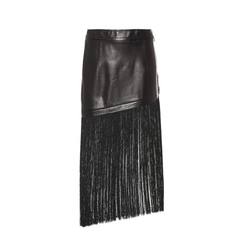 ヘルムート ラング Helmut Lang レディース ミニスカート スカート【Fringed miniskirt】Black