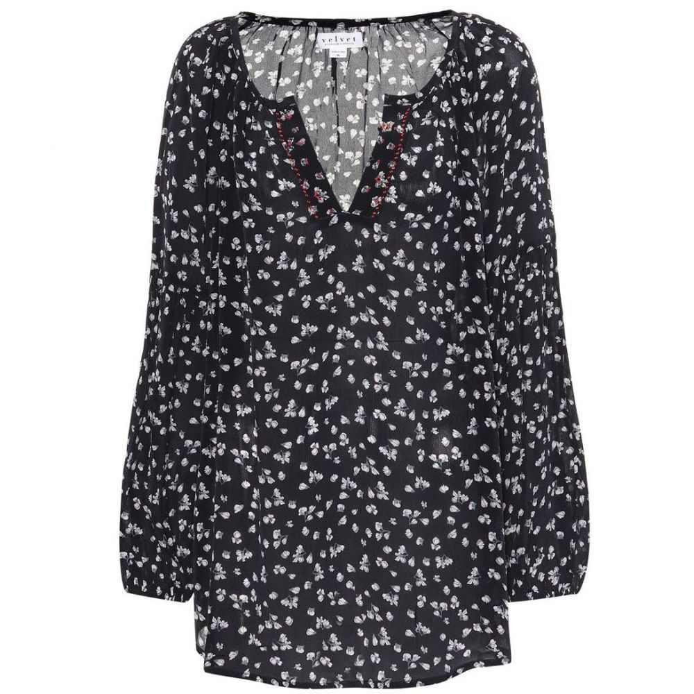 ベルベット グラハム&スペンサー Velvet レディース ブラウス・シャツ トップス【Bessy printed peasant blouse】midnight