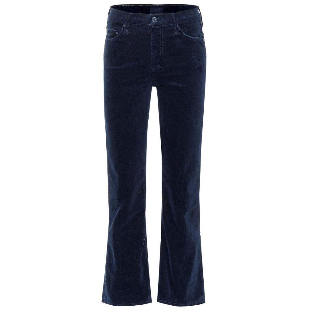 マザー Mother レディース ジーンズ・デニム ボトムス・パンツ【The Outsider Cropped corduroy jeans】navy