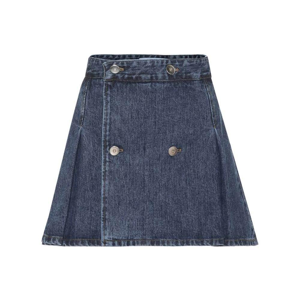 マシュー アダムズ ドーラン Matthew Adams Dolan レディース ミニスカート スカート【Denim miniskirt】indigo