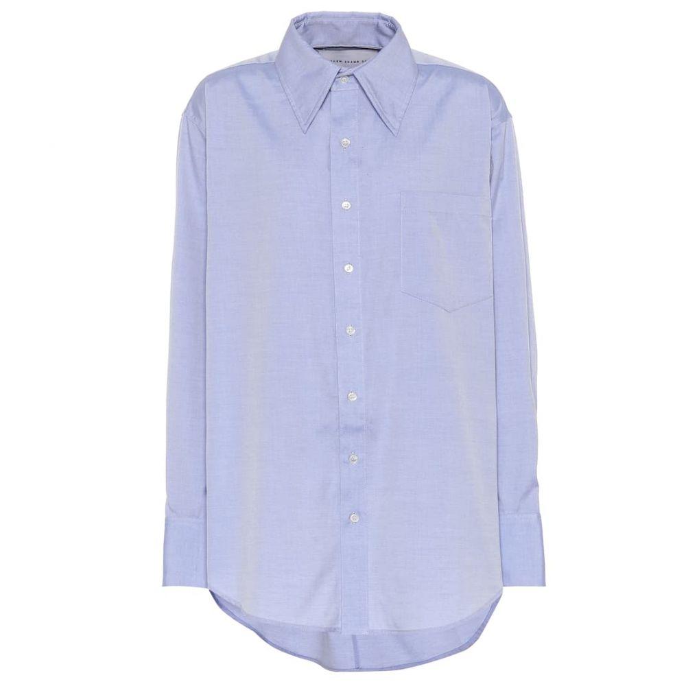 マシュー アダムズ ドーラン Matthew Adams Dolan レディース ブラウス・シャツ トップス【Oversized cotton shirt】Blue