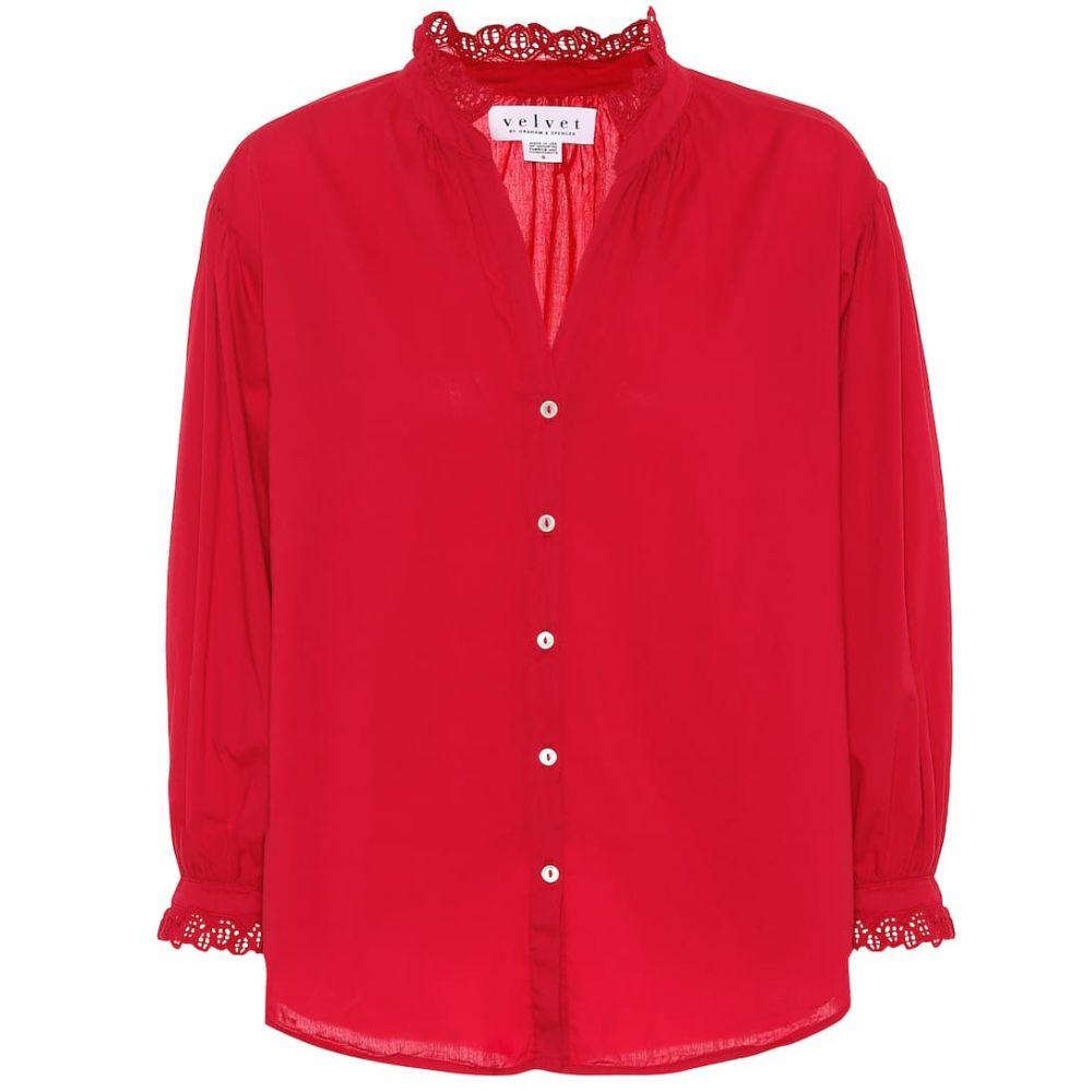 ベルベット グラハム&スペンサー Velvet レディース ブラウス・シャツ トップス【Myrella cotton shirt】Bison