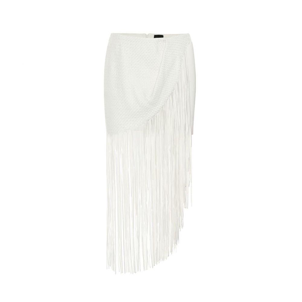マグダ ブトリム Magda Butrym レディース スカート 【London fringed leather skirt】White