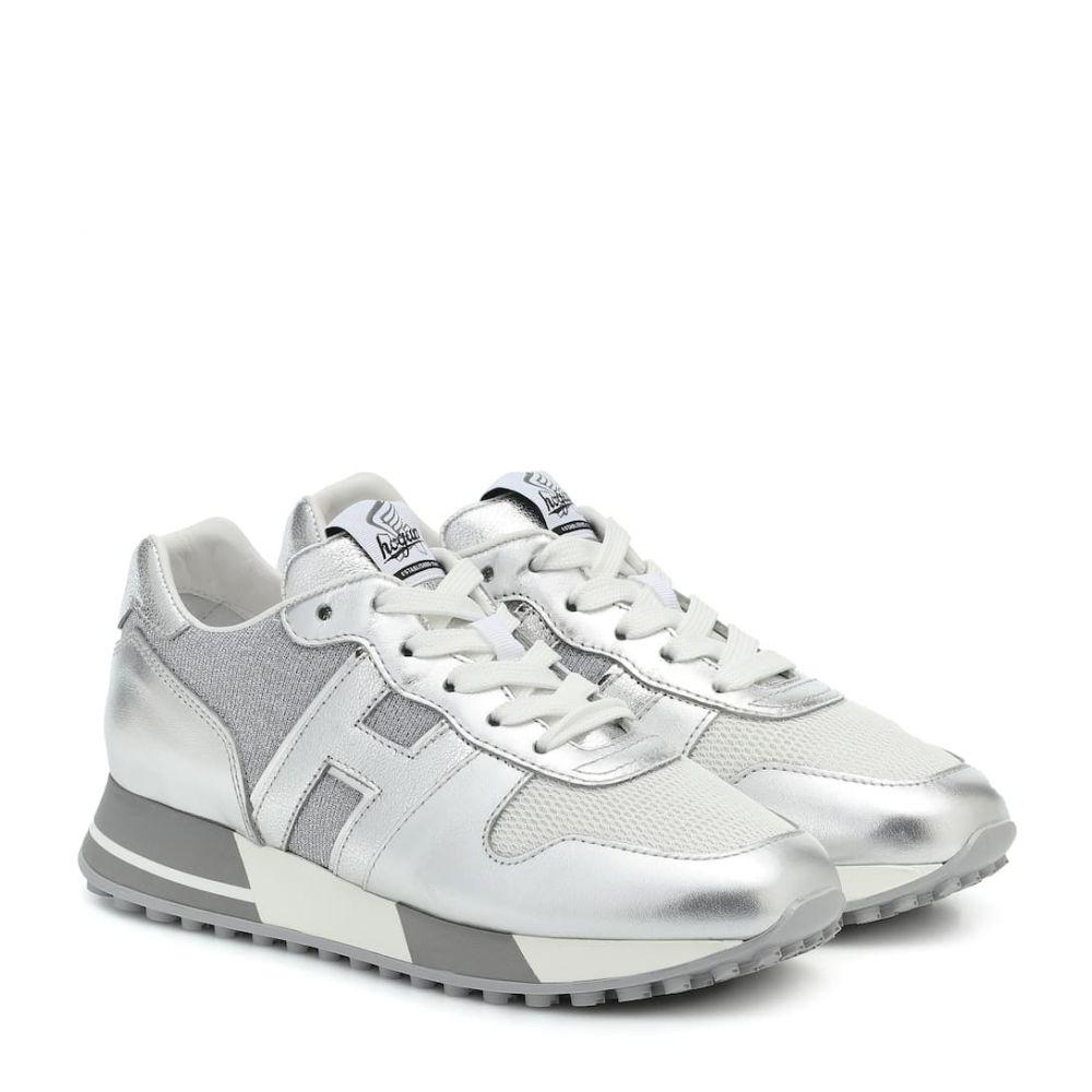 ホーガン Hogan レディース スニーカー シューズ・靴【H383 metallic leather sneakers】Argento Scuro
