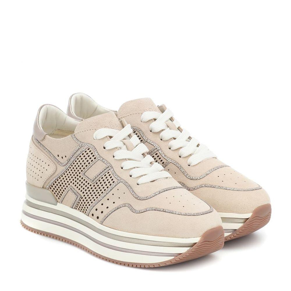 ホーガン Hogan レディース スニーカー シューズ・靴【H483 leather platform sneakers】Conchiglia