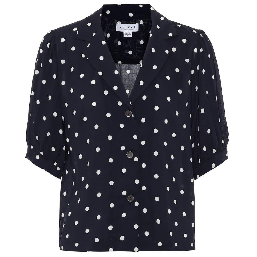 ベルベット グラハム&スペンサー Velvet レディース ブラウス・シャツ トップス【Kaden polka-dot shirt】Polka Dot