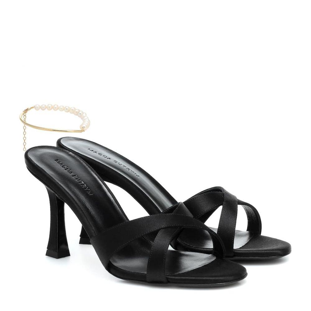マグダ ブトリム Magda Butrym レディース サンダル・ミュール シューズ・靴【Latvia embellished satin sandals】Black Satin