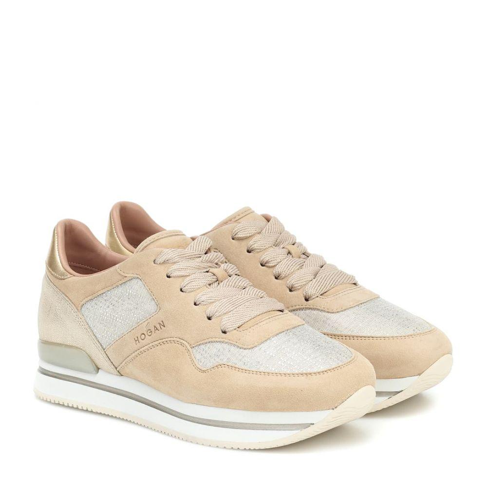 ホーガン Hogan レディース スニーカー シューズ・靴【H222 leather sneakers】Zenzero/Naturalle