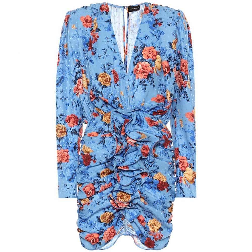 マグダ ブトリム Magda Butrym レディース ワンピース ワンピース・ドレス【Burgos floral silk minidress】Light Blue