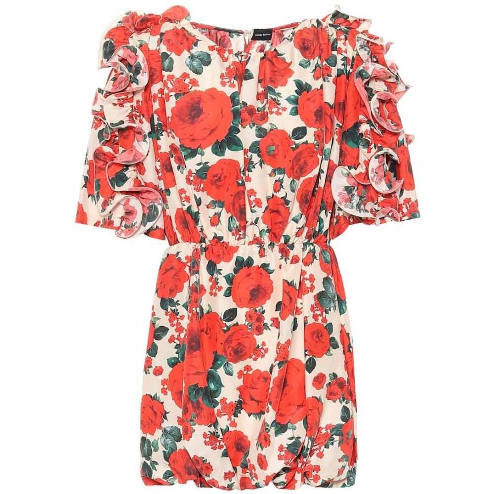 マグダ ブトリム Magda Butrym レディース ワンピース ワンピース・ドレス【Lleida floral silk dress】Cream