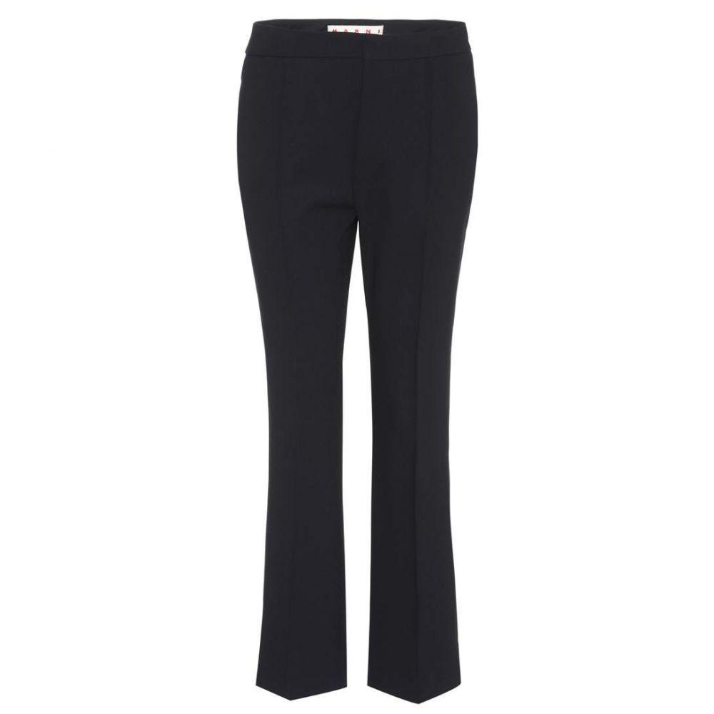 マルニ Marni レディース ボトムス・パンツ 【Wool-blend trousers】Black