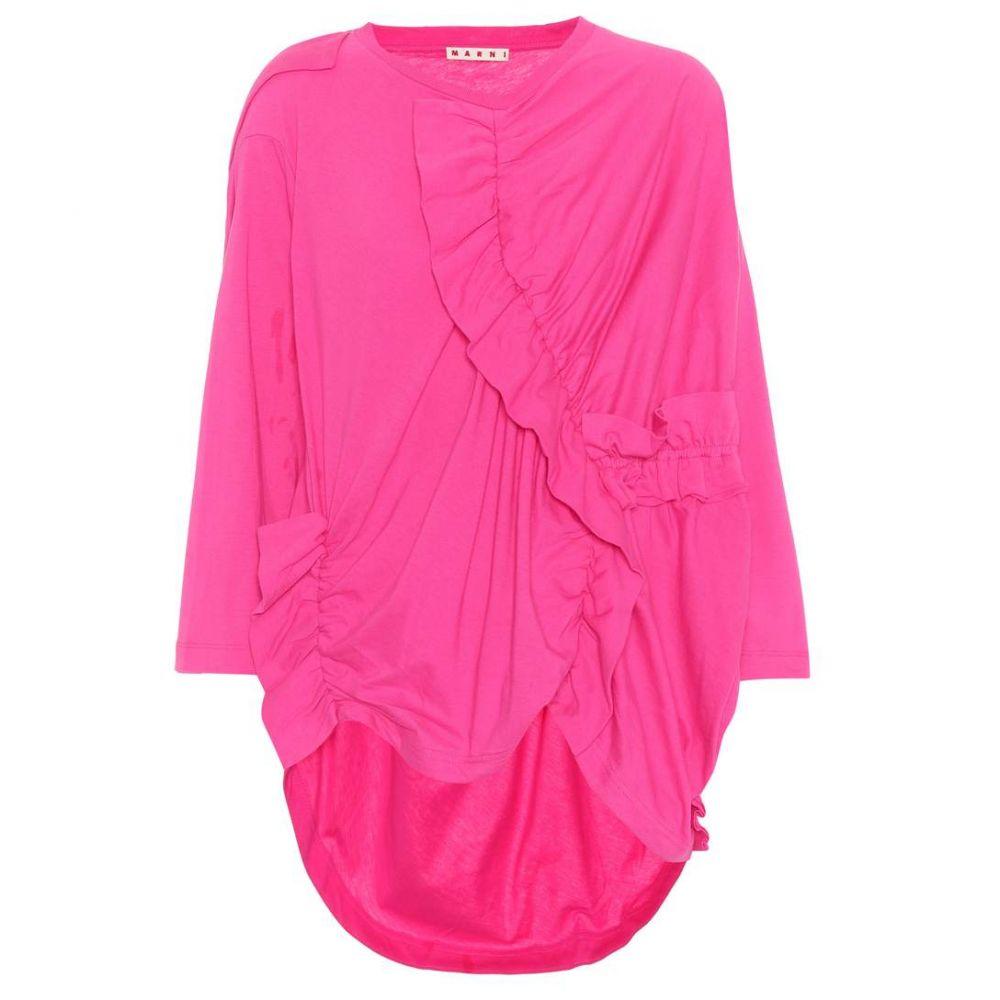 マルニ Marni レディース トップス 【Ruffled cotton top】Starlight Pink