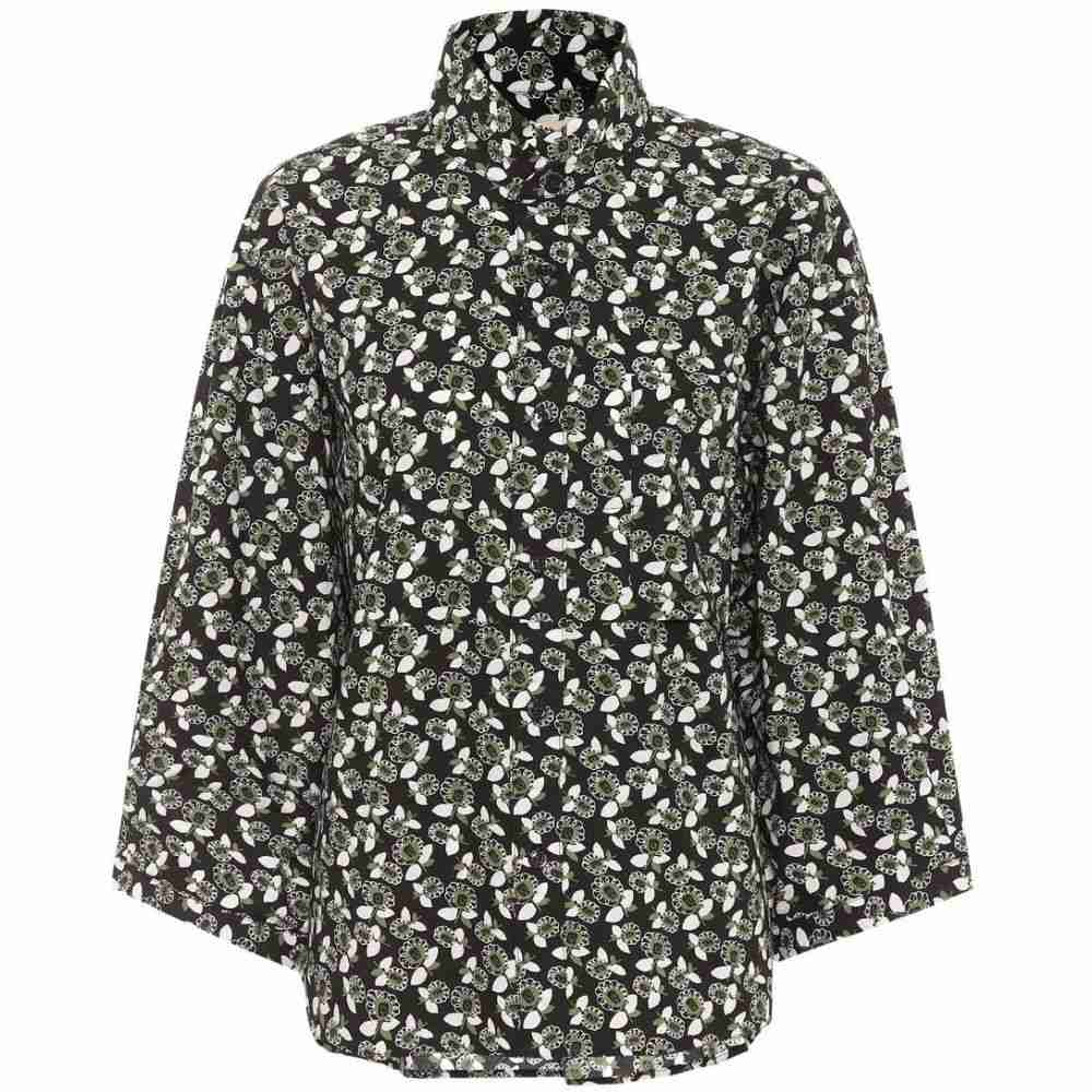 マルニ Marni レディース ブラウス・シャツ トップス【Floral-printed cotton shirt】Green
