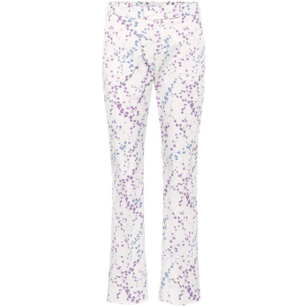 マックスマーラ Max Mara レディース ボトムス・パンツ 【Badess floral-printed cotton trousers】White
